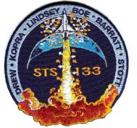 NASA STS-133 Mission Patch (with Tim Kopra)